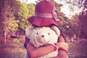girl hugging